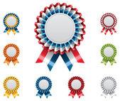 Fotografia set distintivi vettoriale premio