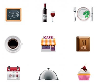Vector restaurant icon set