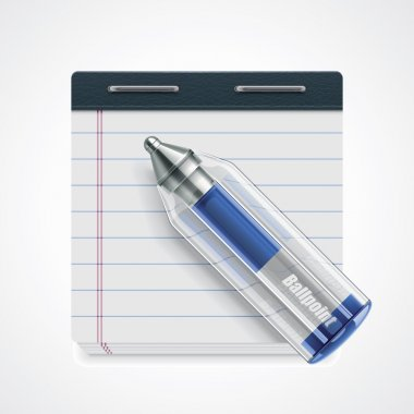 Vector pen and notepad icon