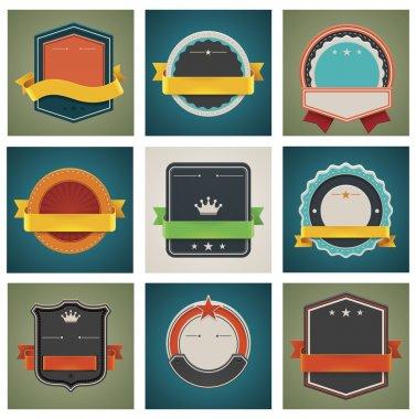 Vector badges set