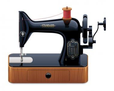 Vector retro sewing machine