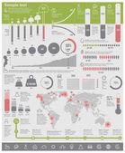 Fotografie Vektor Umweltprobleme Infographik Elemente