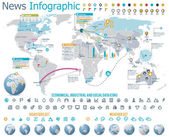 Elements for the news infographic with map