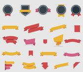 vektorové pásky a štítky