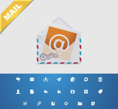 Universal glyphs. E-mail