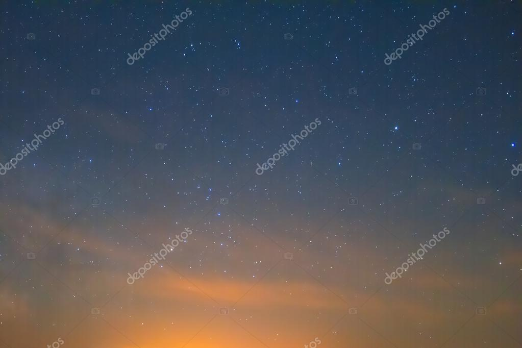 Night sky after a sunset