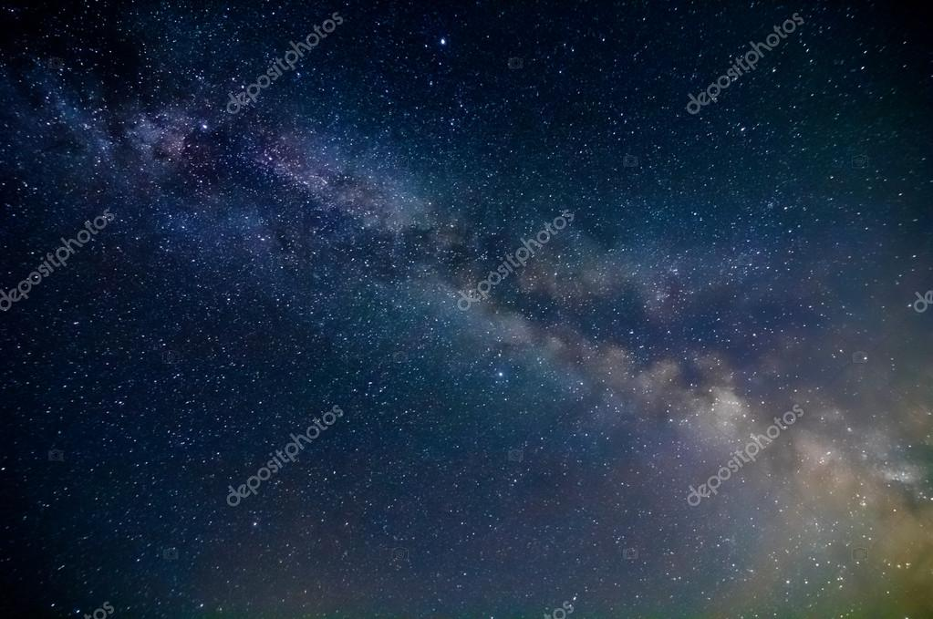 Milky way night scene