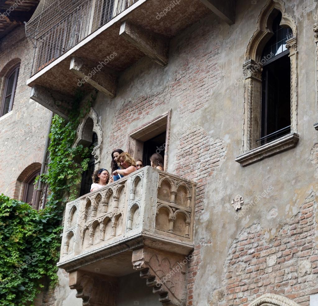 Balkon von Romeo und Julia in verona — Redaktionelles