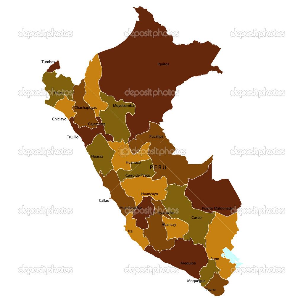 Huancayo Peru Map.Peru Map Stock Vector C Jboy24 12179127
