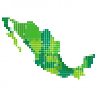 Mexico map mosaic