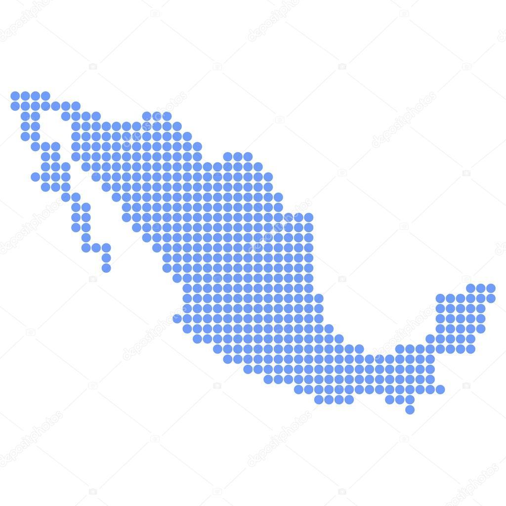 Mapa De México Ronda Vector De Stock JBOY - Mapa de mexico