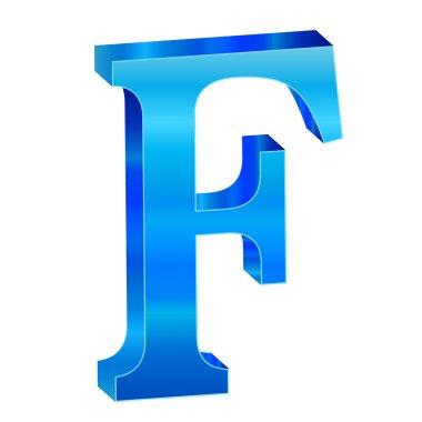 Blue alphabet F