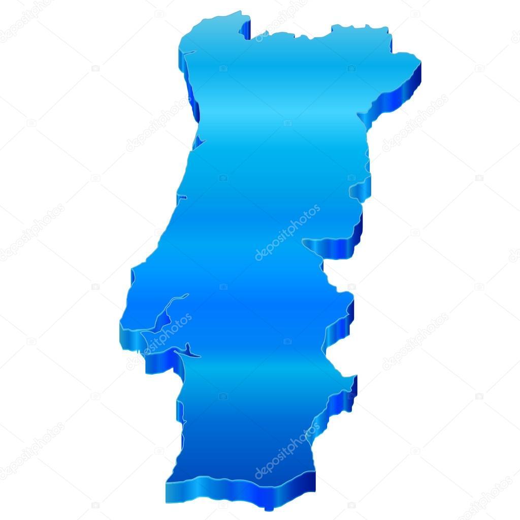 mapa de portugal 3d mapa 3D de portugal — Vetores de Stock © JBOY24 #22599087 mapa de portugal 3d