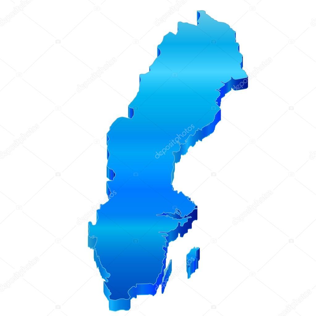D Map Of Sweden Stock Vector JBOY - Sweden map 3d