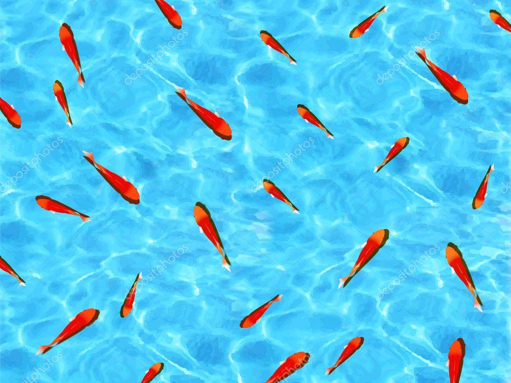 海の金魚の背景 — ストックベク...