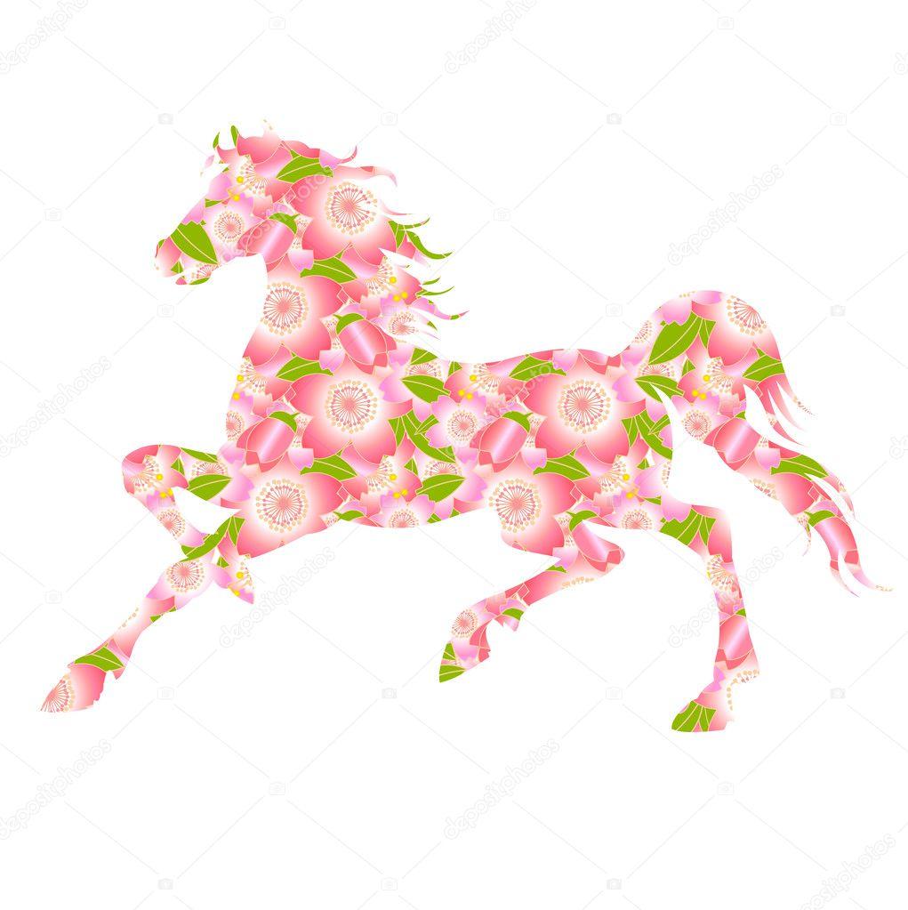 Horse Sakura New Year s card