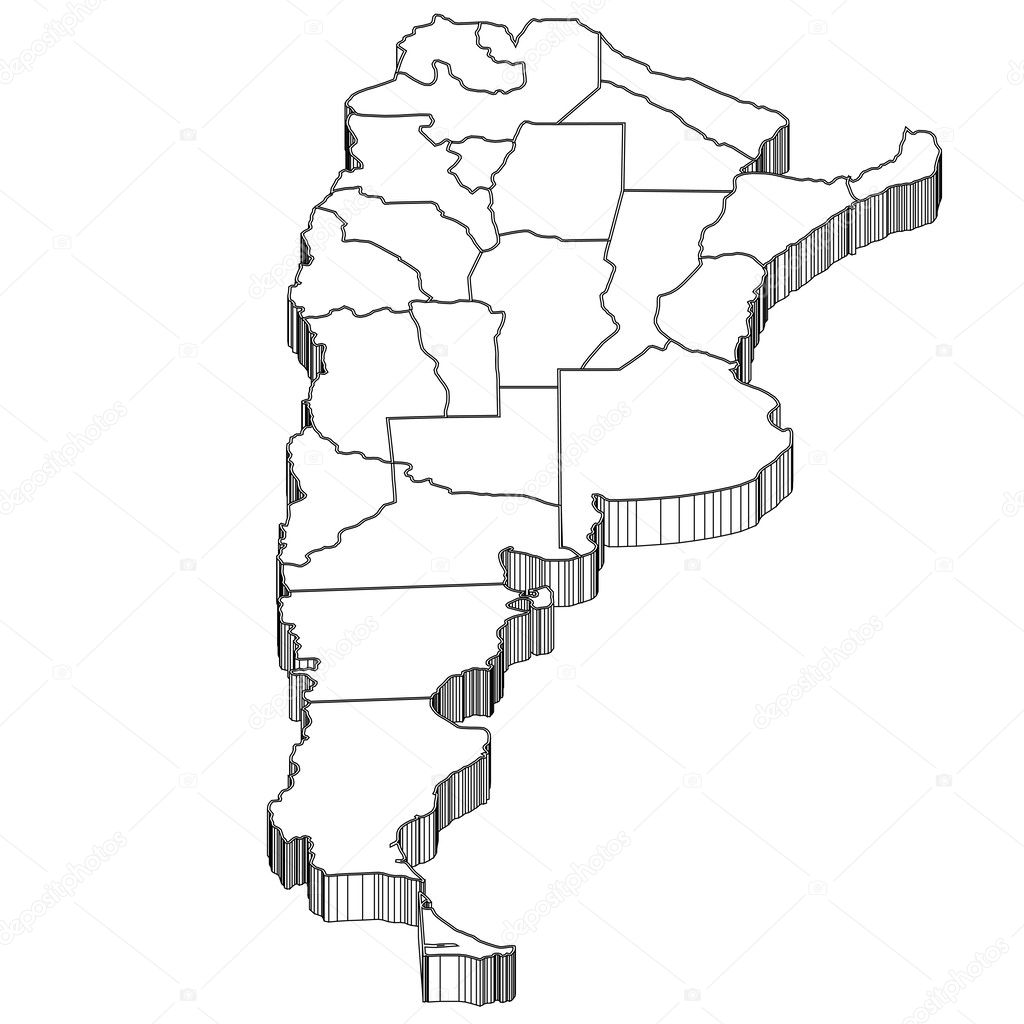 Argentina Argentina Map Stock Vector JBOY - Argentina map black and white