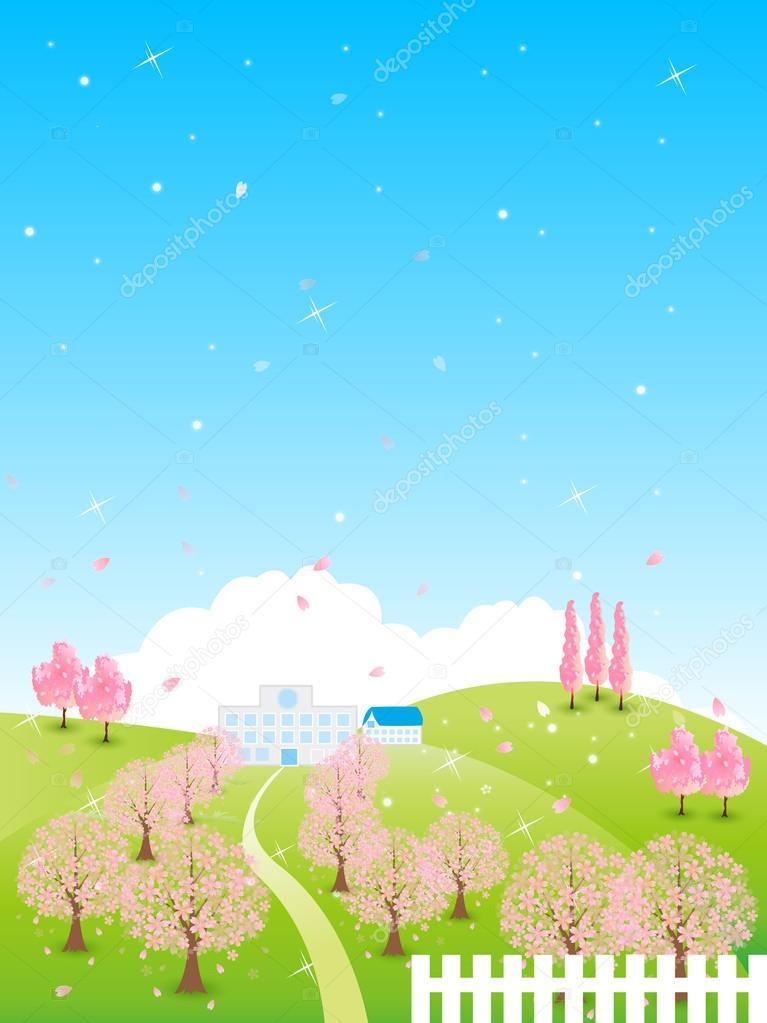 Sakura school background