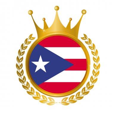 Puerto Rico flag frame