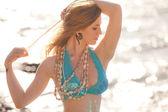 inzuppato giovane sirena bellissima sole