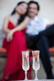 Fotografie Erdbeeren mit Champagner für zwei