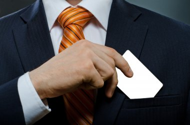 Businessman take out credit card