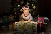 holčička Posvětit nějaké vánoční