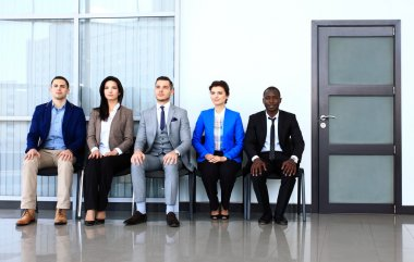 Waiting business people