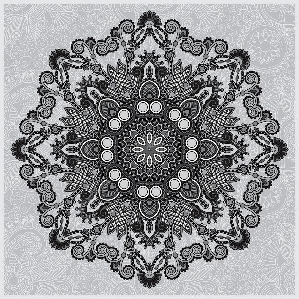 Kreis grau Spitze Ornament, Runde dekorative Deckchen geometrische ...