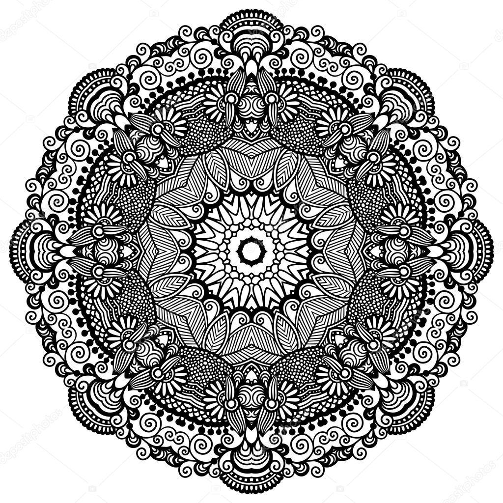 kreis spitze ornament runde dekorative geometrische deckchen muster schwarz wei auflistung. Black Bedroom Furniture Sets. Home Design Ideas
