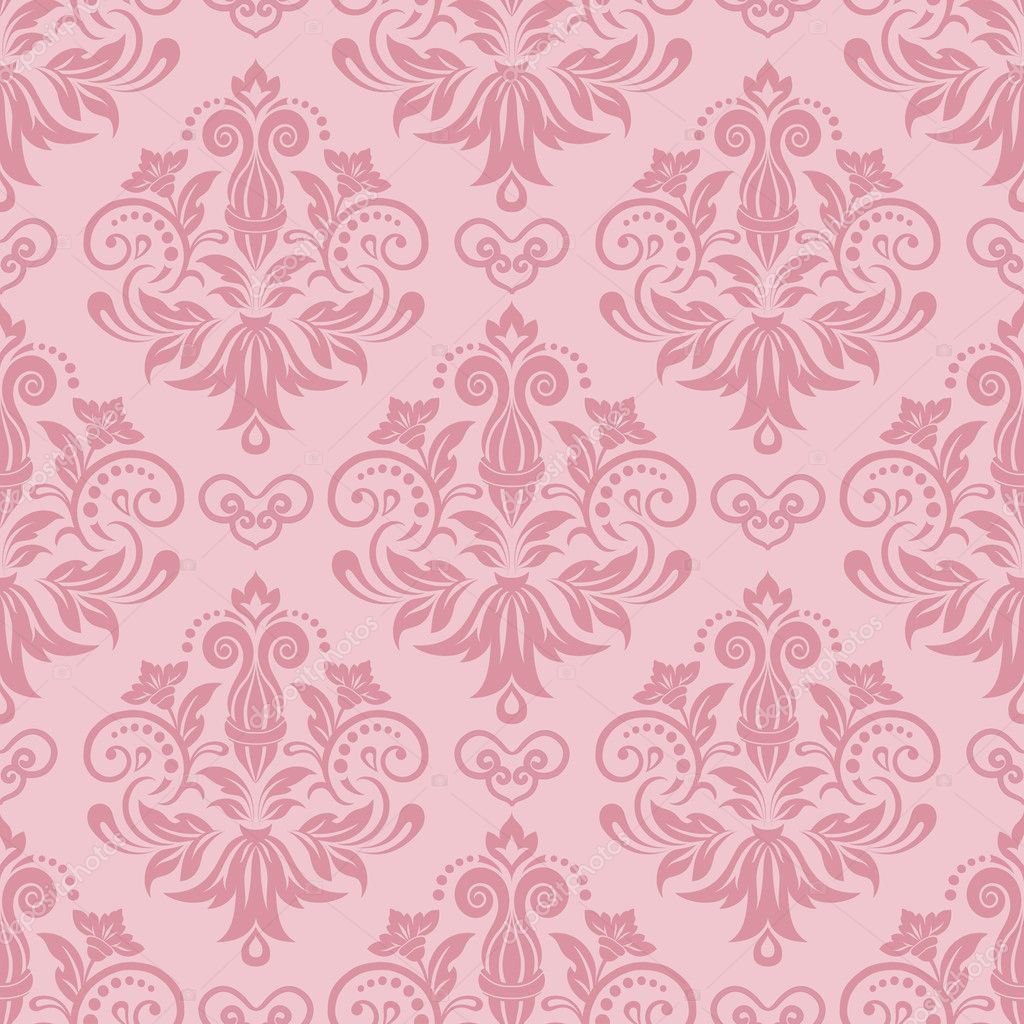 Damask Seamless Pattern For Design Vector Illustration By Katia25