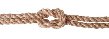 Ship rope isolated on white background