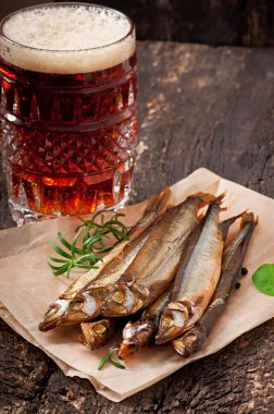 Smoked fish with beer