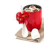 Photo Hot chocolate with a marshmallows