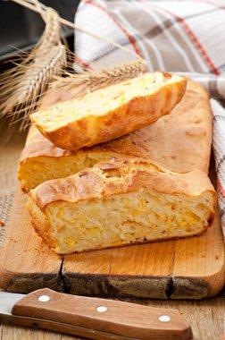 Homemade cheese bread
