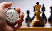 Fényképek Fából készült sakktábla a sakkfigurák