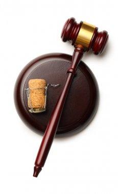 Judge's gavel and cork