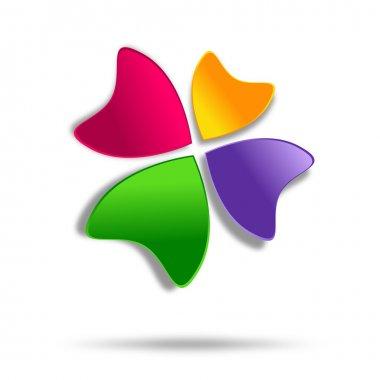 Four-leaf clover logo design