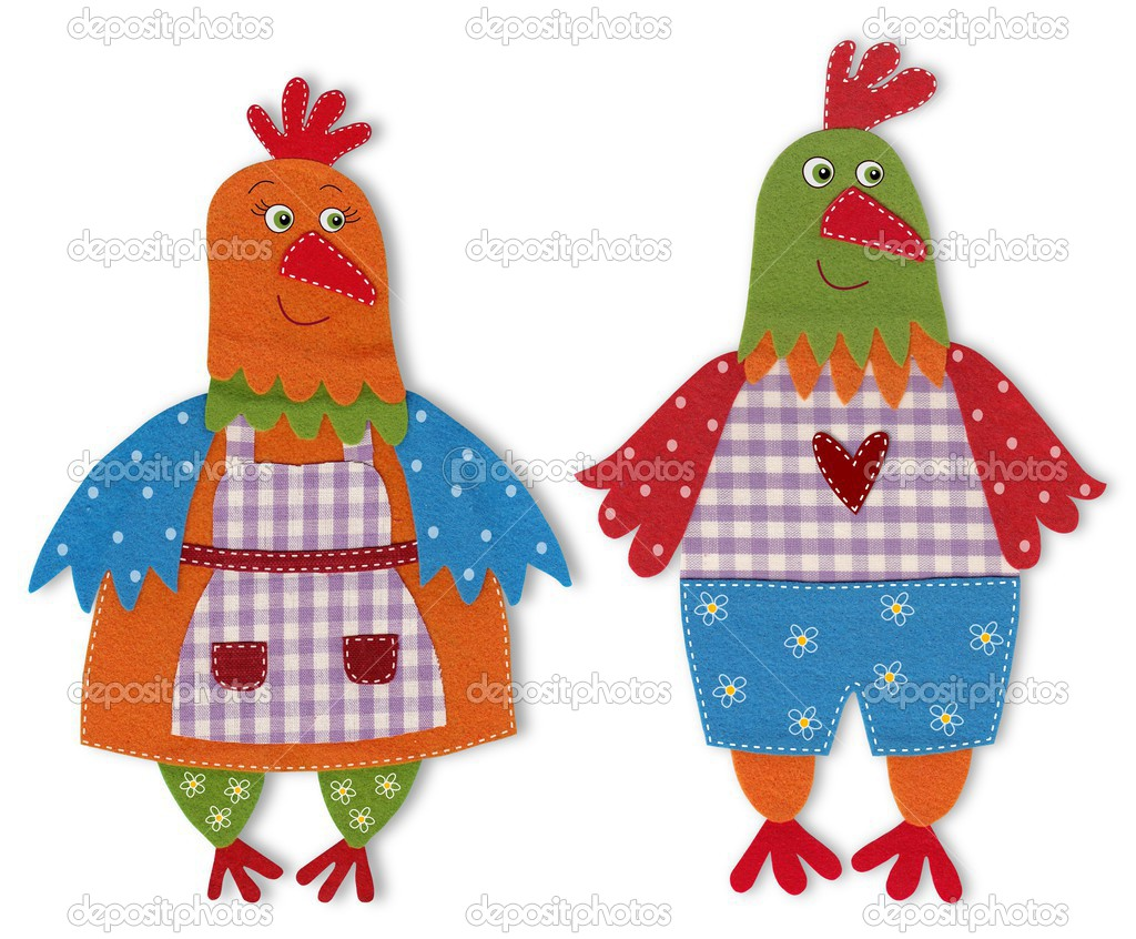 rooster and hen cartoon character u2014 stock photo evarin20 36916997