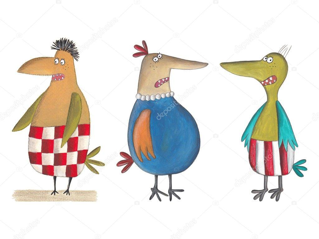 Animato cartone con uccelli cartone animato uccelli u foto