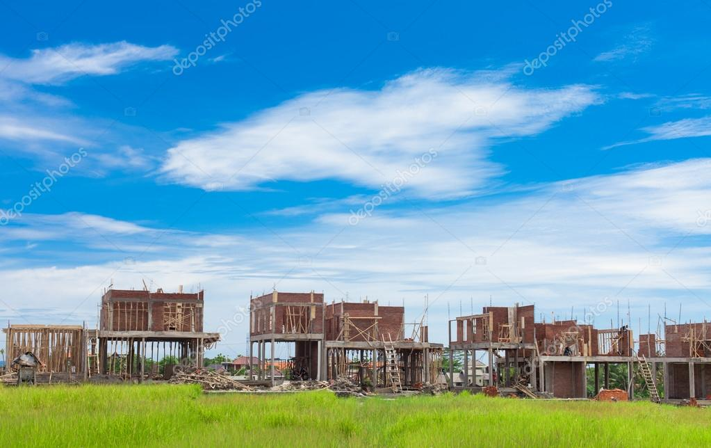 Villas under construction