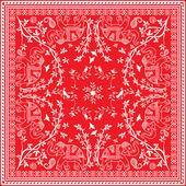 Fotografia sciarpa Piazza asiatica di elefante bianco e rosso o bandana