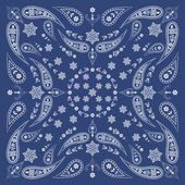 Fotografia foulard bandana con motivo floreale e cachemire