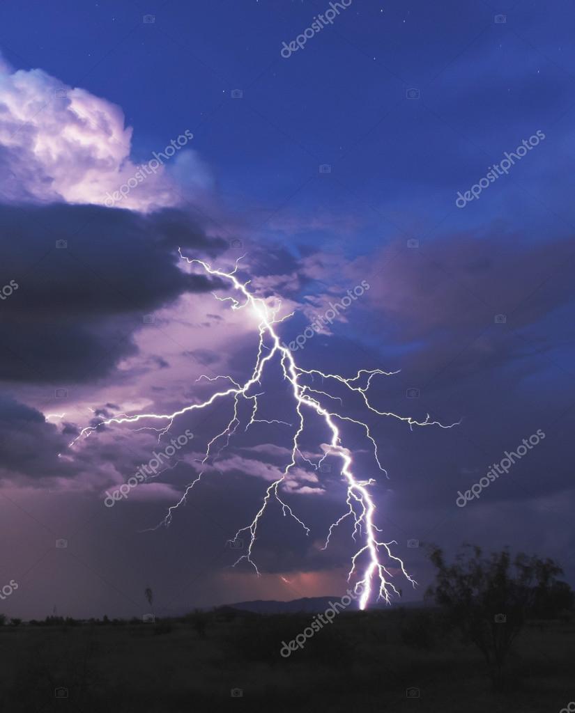 A Bolt of Lightning in the Desert Night