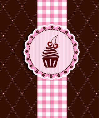 Postcard with cupcake