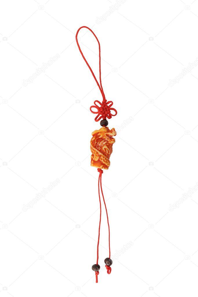 Dragón De La Suerte Aislado Sobre Fondo Blanco Símbolo De Feng Shui