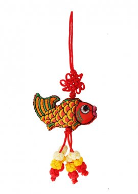 Fish of luck isolated on white background. Feng shui symbol