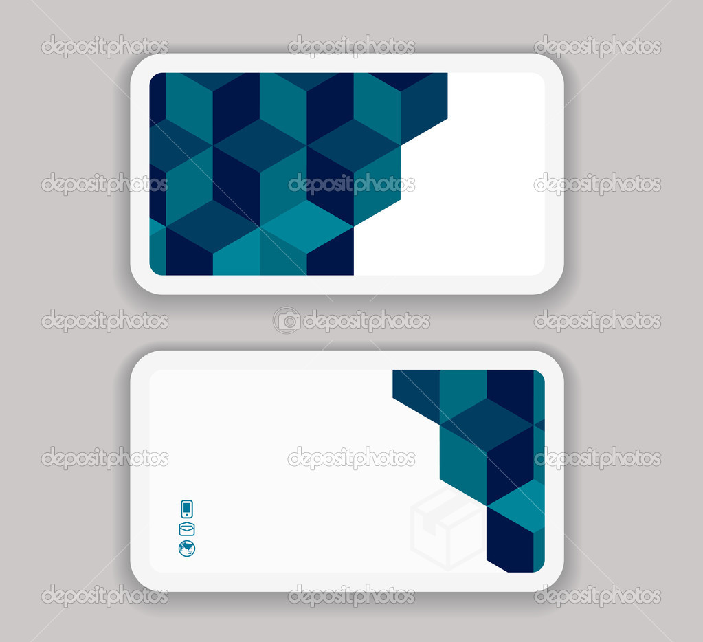 Abstract modern business card design template stock vector abstract modern business card design template stock vector accmission Choice Image