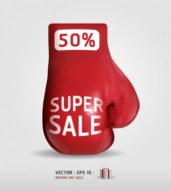 Boxing day shopping creative sale idea / vector / isolated on wh