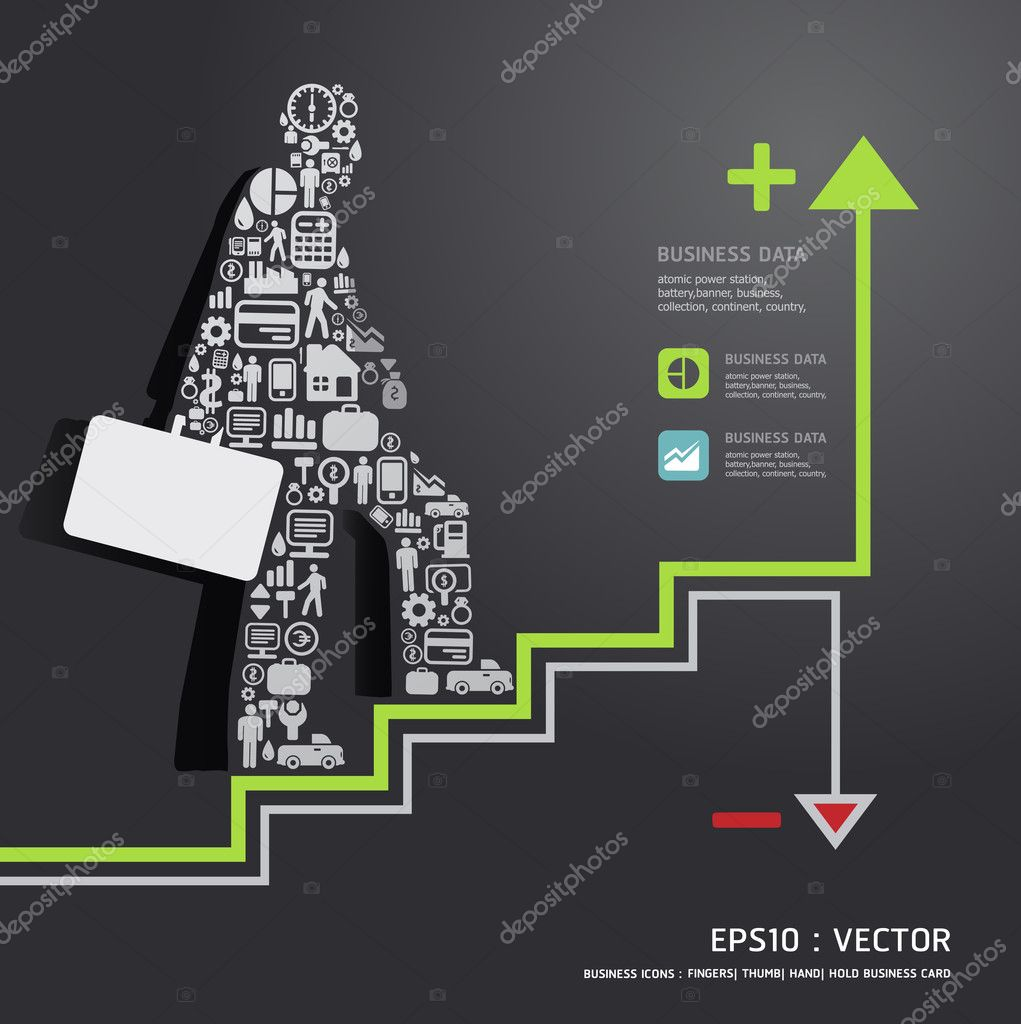 Elements are small icons Finance make in businessman concept .Ve